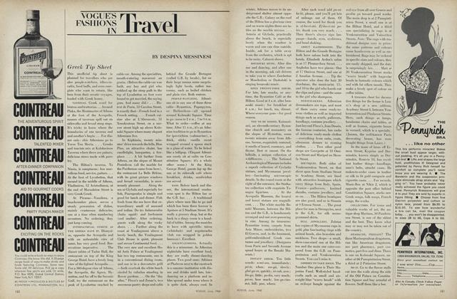 Article Preview: Vogue's Fashions in Travel: Greek Tip Sheet, June 1968 | Vogue