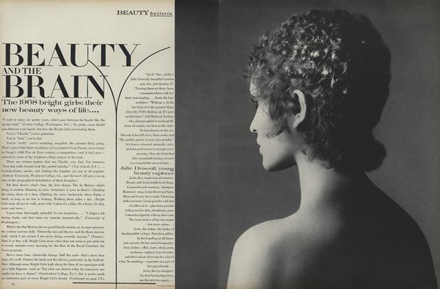 Article Preview: Beauty Bulletin: Beauty and the Brain, August 1 1968 | Vogue