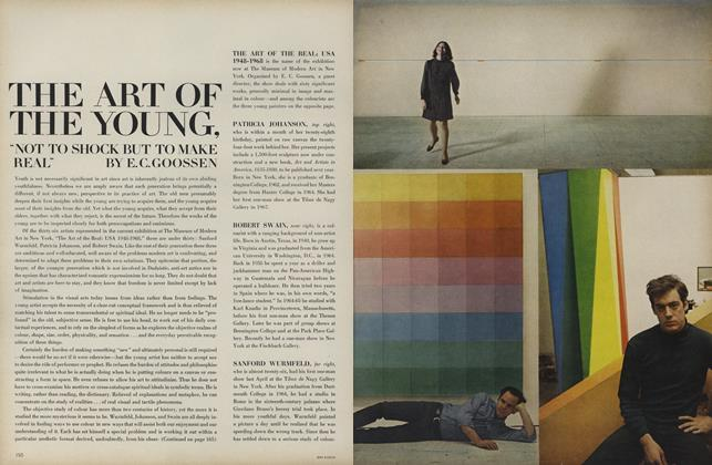 "Article Preview: The Art of the Young, ""Not to Shock But to Make Real"", August 1 1968 