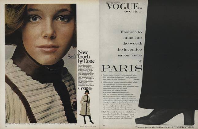 Article Preview: Fashion to Stimulate the World: The Inventive Savoir Vivre of Paris, September 15 1968 | Vogue
