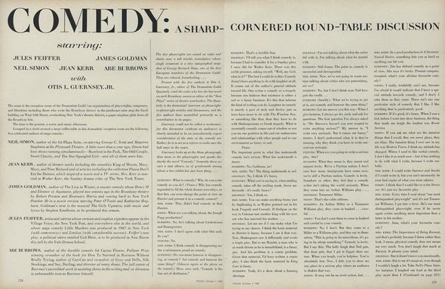 Article Preview: Comedy: A Sharp-Cornered Round-table Discussion, October 1 1968 | Vogue