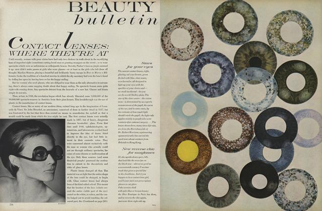 Article Preview: Contact Lenses.../Tension and Your Skin, October 1 1968 | Vogue