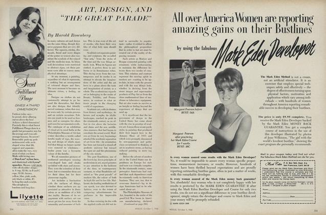 "Article Preview: Art, Design, and ""The Great Parade"", October 1 1968 