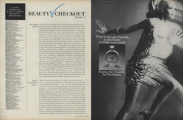 Article Preview: The Happy Waters/Quick! The Smelling Salts..., October 1 1968 | Vogue