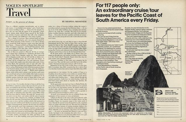 Article Preview: Travel: Peru, in the process of change, October 15 1968 | Vogue