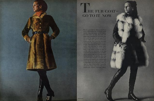 Article Preview: The Fur Coat- Go To It Now, October 15 1968 | Vogue