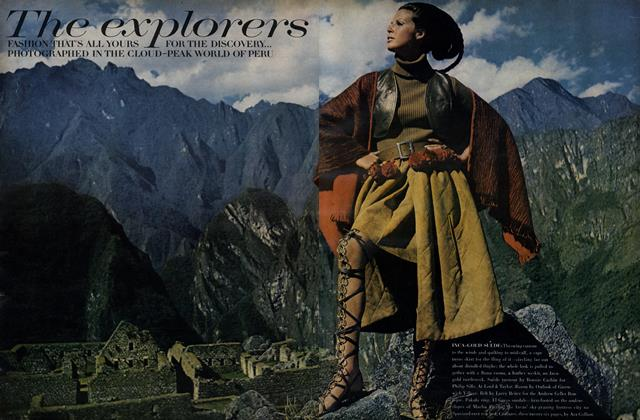 Article Preview: The explorers. Fashion that's all yours for the discovery..., October 15 1968 | Vogue