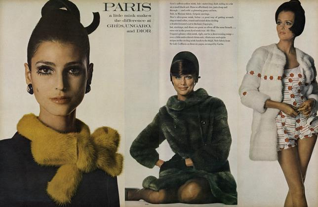 Paris, a Little Mink Makes the Difference at Gres, Ungaro and Dior