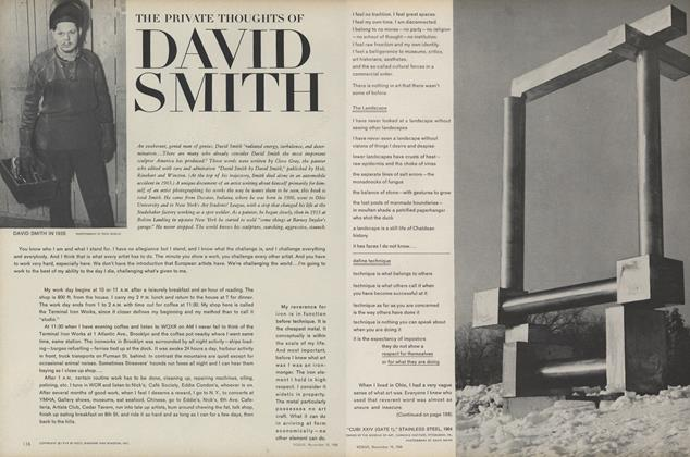 Article Preview: The Private Thoughts of David Smith, November 15 1968 | Vogue