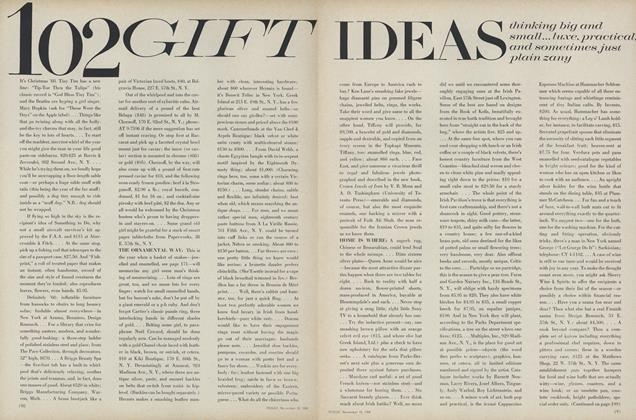 Article Preview: 102 Gift Ideas, November 15 1968 | Vogue
