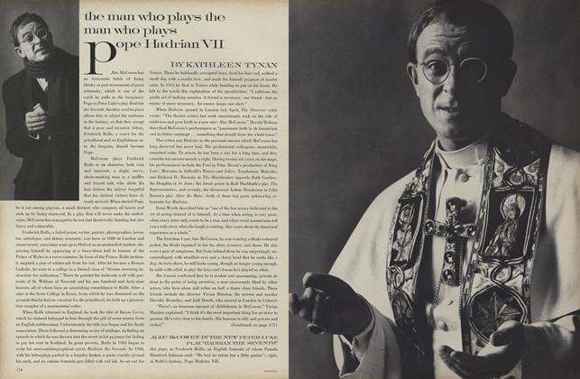 Article Preview: Alec Mcowen: The Man who Plays the Man who Plays Pope Hadrian VII, January 1 1969 | Vogue