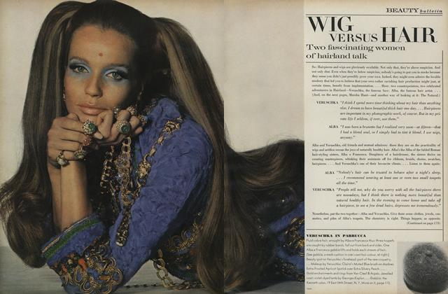 Article Preview: Wig Versus Hair, January 1 1969 | Vogue