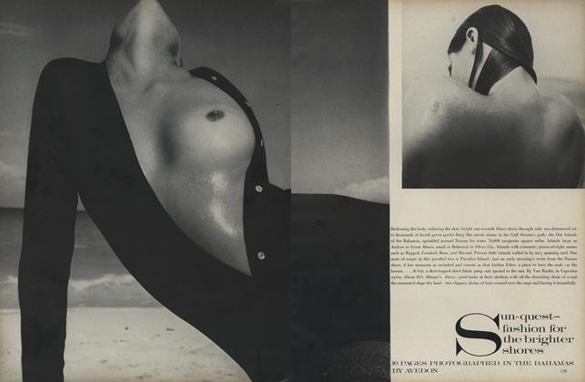 Article Preview: Sun-quest—Fashion for the Brighter Shores, January 1 1969 | Vogue