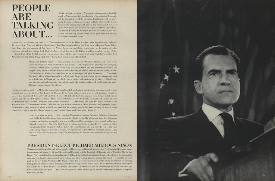 President-elect Richard Milhous Nixon...