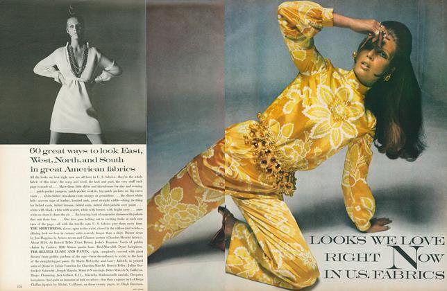 Article Preview: Looks We Love Right Now in U.S. Fabrics, January 15 1969 | Vogue