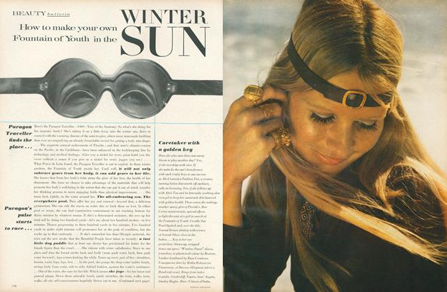 Article Preview: How To Make Your Own Fountain of Youth in the Winter Sun, January 15 1969 | Vogue
