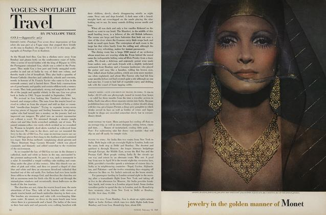 Article Preview: Travel, February 15 1969 | Vogue
