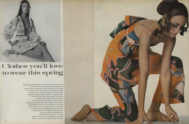 Article Preview: Clothes You'll Love to Wear This Spring, February 15 1969 | Vogue