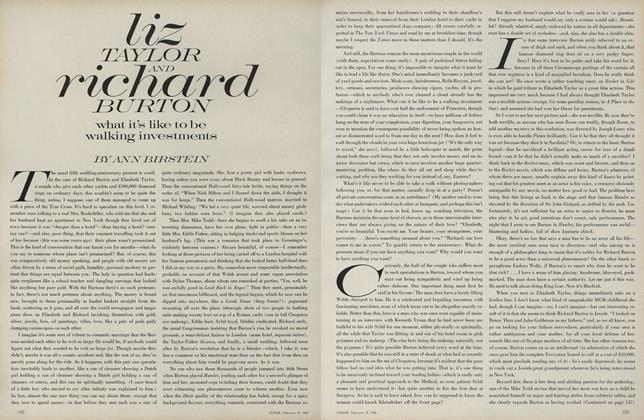 Article Preview: Liz Taylor and Richard Burton: What It's Like to be Walking Investments, February 15 1969 | Vogue