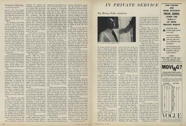 Article Preview: In Private Service, February 15 1969 | Vogue