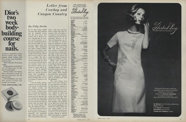 Article Preview: Letter from Cowboy and Canyon Country, March 1 1969 | Vogue