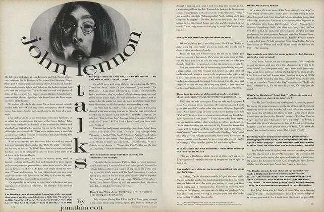 Article Preview: John Lennon Talks, March 1 1969 | Vogue