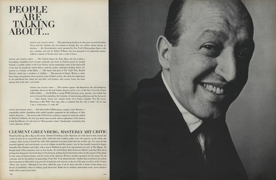 Clement Greenberg, Masterly Art Critic...