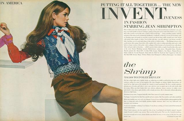 In America. Putting it all Together...The New Inventiveness in Fashion Starring Jean Shrimpton