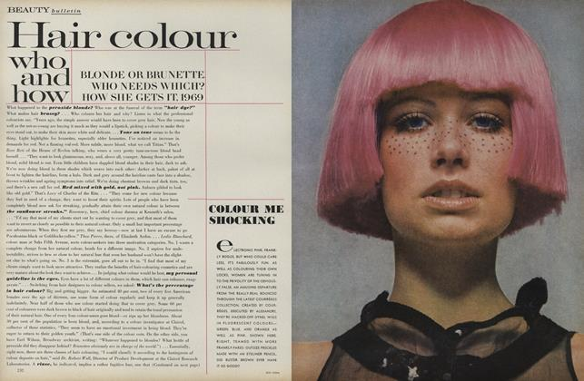 Article Preview: Hair Colour Who and How, April 1 1969 | Vogue
