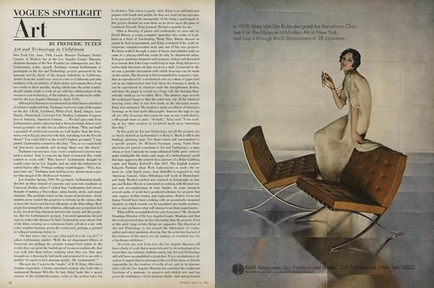Article Preview: Vogue's Spotlight: Art, April 15 1969 | Vogue