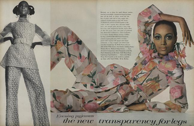 Article Preview: Evening Pyjamas: The New Transparency for Legs, April 15 1969 | Vogue