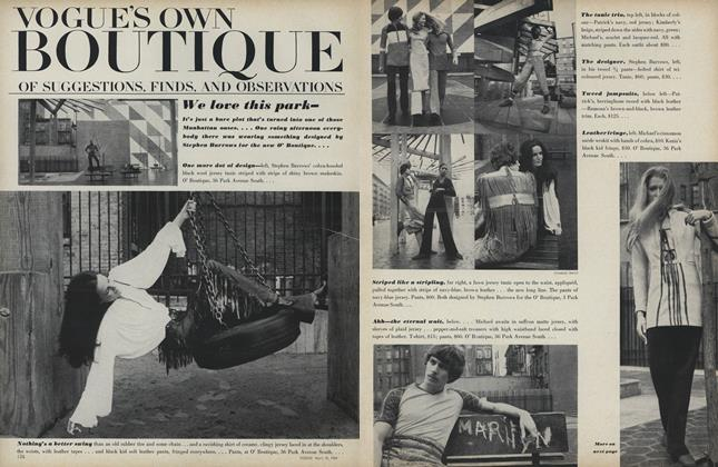 Article Preview: Vogue's Own Boutique of Suggestions, Finds, and Observations, April 15 1969 | Vogue