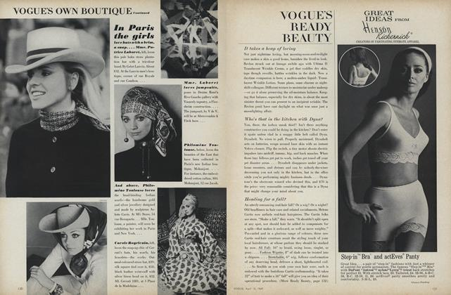 Article Preview: Vogue's Ready Beauty, April 15 1969 | Vogue