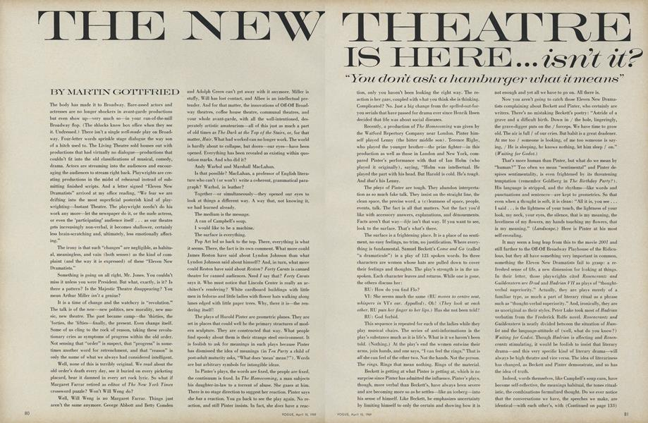 The New Theatre Is Here,...Isn't It?