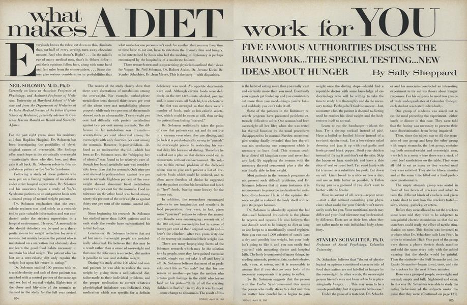 What Makes a Diet Work for You