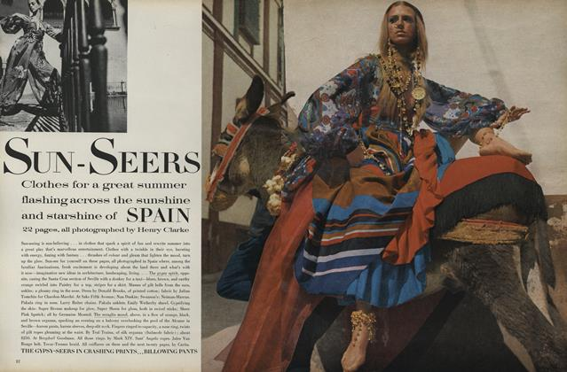 Article Preview: Sun-Seers: Clothes For a Great Summer Flashing Across the Sunshine and Starshine of Spain, June 1969 | Vogue