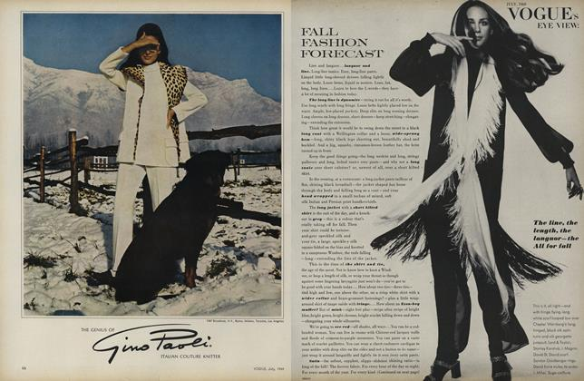 Article Preview: Vogue's Eye View: Fall Fashion Forecast, July 1969 | Vogue