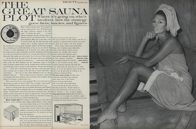 Article Preview: Beauty Bulletin: The Great Sauna Plot, July 1969 | Vogue