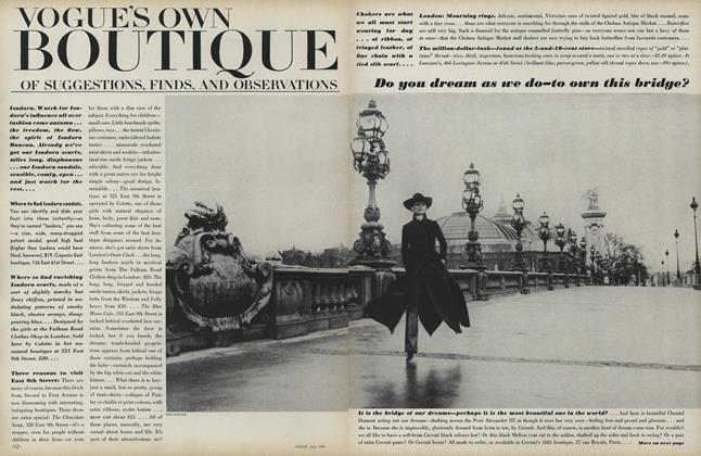 Article Preview: Vogue's Own Boutique of Suggestions, Finds, and Observations, July 1969 | Vogue