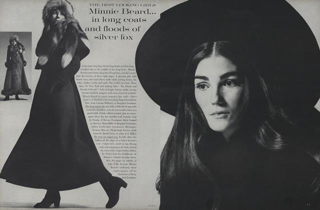Article Preview: The Best-Looking Girls: Minnie Beard, August 1 1969 | Vogue