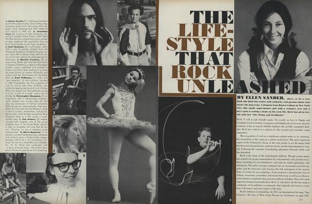 Article Preview: The Lifestyle that Rock Unleashed, August 1 1969 | Vogue