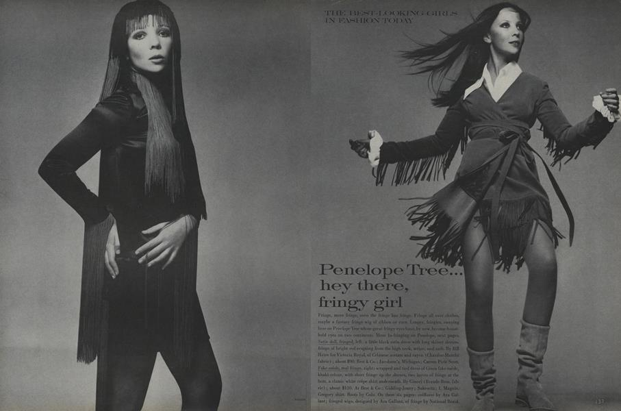 The Best-Looking Girls in Fashion Today: Penelope Tree/Olga Georges-Picot/Brigitte Fossey