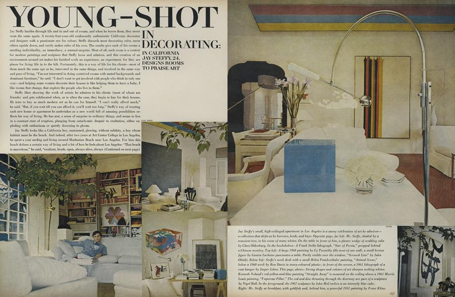 Young-Shot in Decorating: In California Jay Steffy, 24 Designs Rooms to Praise Art