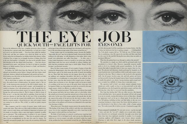 Article Preview: The Eye Job: Quick Youth - Face Lifts for Eyes Only, August 15 1969 | Vogue