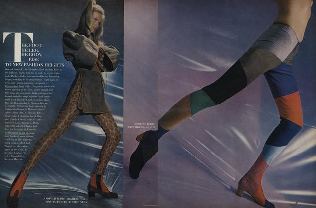 Article Preview: The Foot, the Leg, the Body Rise to New Fashion Heights, August 15 1969 | Vogue