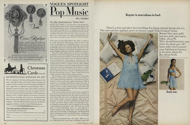 Article Preview: Pop Music: The Hip Establishment, September 1 1969 | Vogue