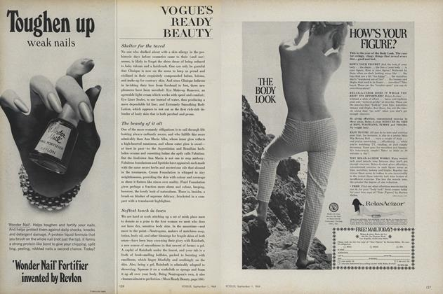 Article Preview: Shelter for the Taxed/The Beauty of It all..., September 1 1969 | Vogue