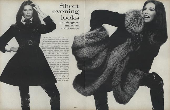 Article Preview: Short Evening Looks... All the Great Little Coats and Dresses, October 1 1969 | Vogue