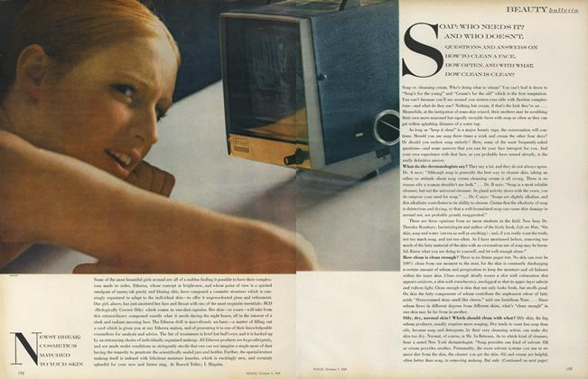 Article Preview: Soap: Who Needs It? And Who Doesn't., October 1 1969 | Vogue