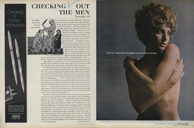 Article Preview: Checking Out the Men, November 15 1969 | Vogue